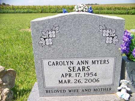 MYERS SEARS, CAROLYN ANN - Coffee County, Tennessee | CAROLYN ANN MYERS SEARS - Tennessee Gravestone Photos
