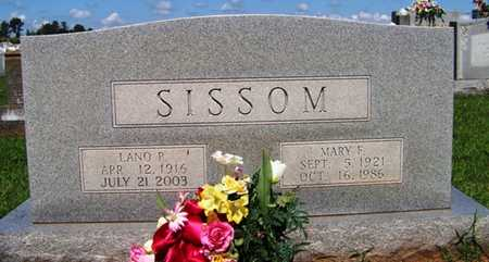 SISSOM, MARY FRANCES - Coffee County, Tennessee | MARY FRANCES SISSOM - Tennessee Gravestone Photos