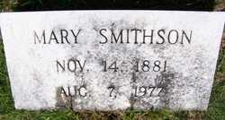 SMITHSON, MARY - Coffee County, Tennessee | MARY SMITHSON - Tennessee Gravestone Photos