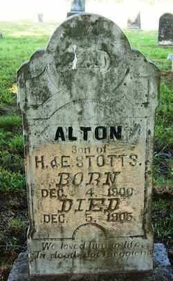 STOTTS, ALTON - Coffee County, Tennessee   ALTON STOTTS - Tennessee Gravestone Photos