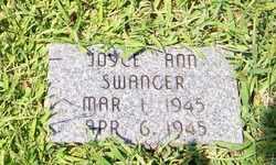 SWANGER, JOYCE ANN - Coffee County, Tennessee   JOYCE ANN SWANGER - Tennessee Gravestone Photos