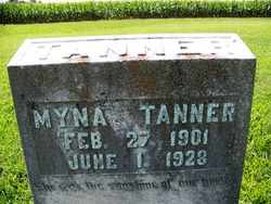 TANNER, MYNA - Coffee County, Tennessee | MYNA TANNER - Tennessee Gravestone Photos