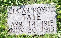 TATE, EDGAR ROYCE - Coffee County, Tennessee | EDGAR ROYCE TATE - Tennessee Gravestone Photos