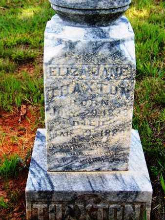 THAXTON, ELIZA JANE - Coffee County, Tennessee | ELIZA JANE THAXTON - Tennessee Gravestone Photos
