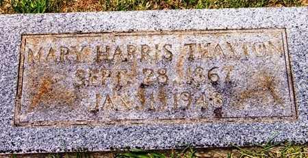 "HARRIS THAXTON, MARY ""MOLLIE"" - Coffee County, Tennessee | MARY ""MOLLIE"" HARRIS THAXTON - Tennessee Gravestone Photos"