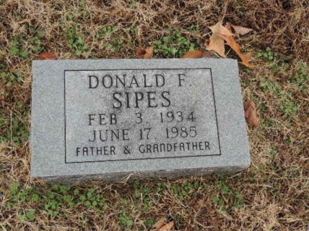 SIPES, DONALD F - Crockett County, Tennessee | DONALD F SIPES - Tennessee Gravestone Photos