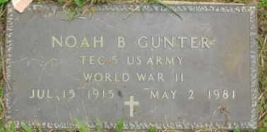 GUNTER  (VETERAN WWII), NOAH B - Cumberland County, Tennessee | NOAH B GUNTER  (VETERAN WWII) - Tennessee Gravestone Photos