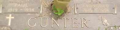 GUNTER, PAUL - Cumberland County, Tennessee   PAUL GUNTER - Tennessee Gravestone Photos