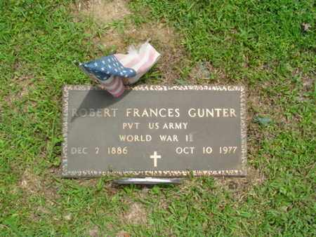 GUNTER  (VETERAN WWII), ROBERT FRANCES - Cumberland County, Tennessee | ROBERT FRANCES GUNTER  (VETERAN WWII) - Tennessee Gravestone Photos