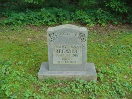 KNOX REDWINE, MARY ANN - Cumberland County, Tennessee | MARY ANN KNOX REDWINE - Tennessee Gravestone Photos