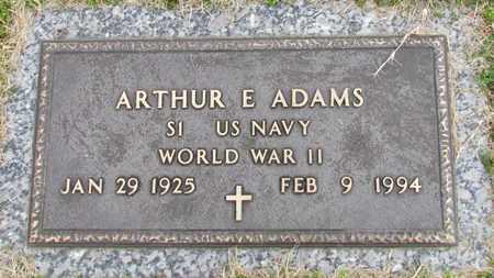 ADAMS (VETERAN WWII), ARTHUR E. - Davidson County, Tennessee | ARTHUR E. ADAMS (VETERAN WWII) - Tennessee Gravestone Photos