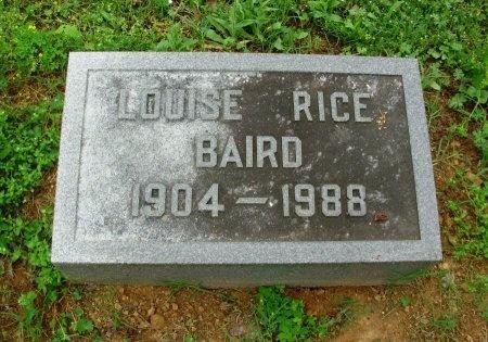 "RICE BAIRD, STELLA LOUISE ""LUDIE"" - Davidson County, Tennessee | STELLA LOUISE ""LUDIE"" RICE BAIRD - Tennessee Gravestone Photos"