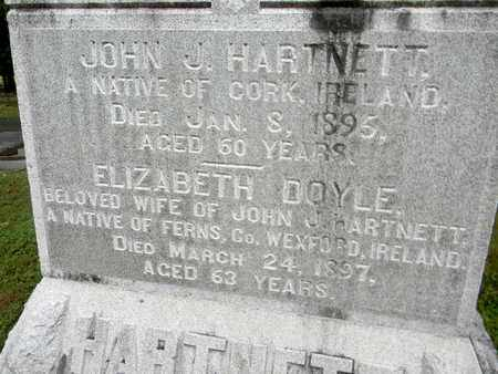 HARTNETT, ELIZABETH (CLOSE UP) - Davidson County, Tennessee | ELIZABETH (CLOSE UP) HARTNETT - Tennessee Gravestone Photos