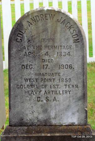 JACKSON, III (VETERAN CSA), ANDREW - Davidson County, Tennessee | ANDREW JACKSON, III (VETERAN CSA) - Tennessee Gravestone Photos
