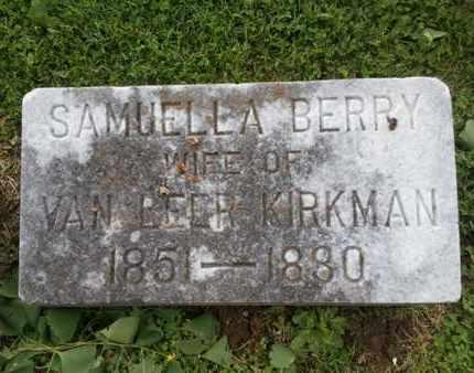 KIRKMAN, SAMUELLA - Davidson County, Tennessee | SAMUELLA KIRKMAN - Tennessee Gravestone Photos