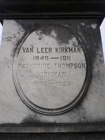 THOMPSON KIRKMAN, KATHERINE - Davidson County, Tennessee | KATHERINE THOMPSON KIRKMAN - Tennessee Gravestone Photos