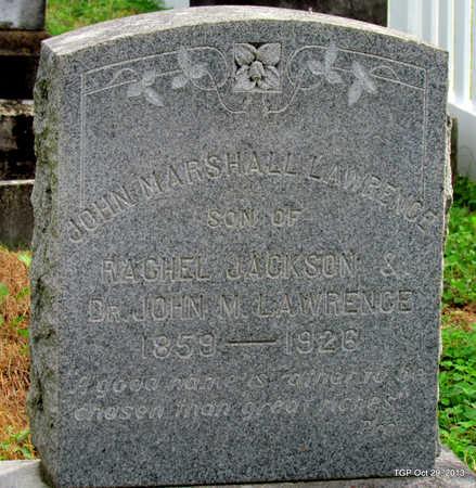 LAWRENCE, JOHN MARSHALL - Davidson County, Tennessee | JOHN MARSHALL LAWRENCE - Tennessee Gravestone Photos