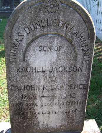 LAWRENCE, THOMAS DONELSON - Davidson County, Tennessee | THOMAS DONELSON LAWRENCE - Tennessee Gravestone Photos