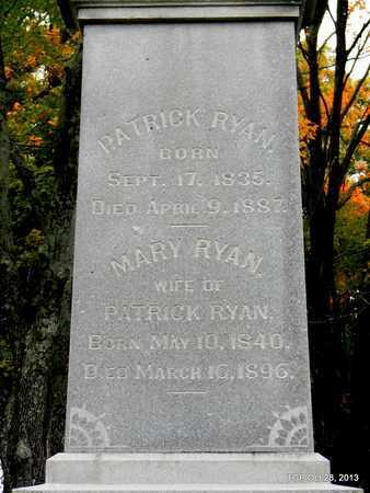 RYAN, PATRICK (CLOSE UP) - Davidson County, Tennessee | PATRICK (CLOSE UP) RYAN - Tennessee Gravestone Photos