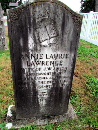 LAWRENCE SMITH, ANNIE LAURIE - Davidson County, Tennessee | ANNIE LAURIE LAWRENCE SMITH - Tennessee Gravestone Photos