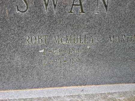 SWAN, ROBERT MCMULLAN - Davidson County, Tennessee | ROBERT MCMULLAN SWAN - Tennessee Gravestone Photos