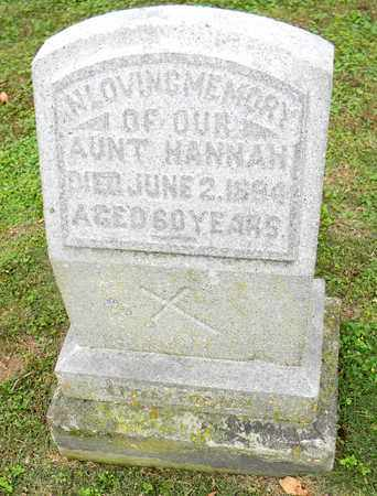 UNKNOWN, HANNAH - Davidson County, Tennessee   HANNAH UNKNOWN - Tennessee Gravestone Photos