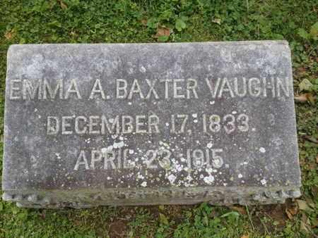 BAXTER VAUGHN, EMMA - Davidson County, Tennessee | EMMA BAXTER VAUGHN - Tennessee Gravestone Photos