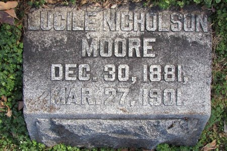 MOORE, LUCILE - Davidson County, Tennessee | LUCILE MOORE - Tennessee Gravestone Photos