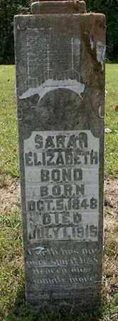 BOND, SARAH - DeKalb County, Tennessee | SARAH BOND - Tennessee Gravestone Photos