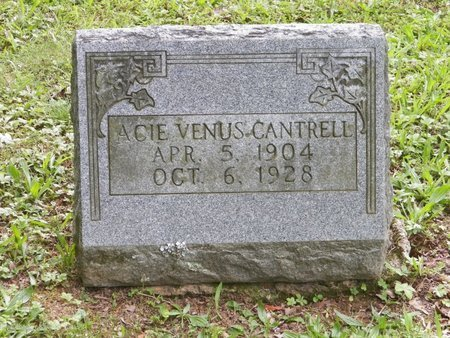 CANTRELL, ACIE VENUS - DeKalb County, Tennessee | ACIE VENUS CANTRELL - Tennessee Gravestone Photos