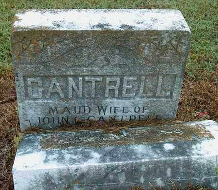 CANTRELL, MAUD MAY - DeKalb County, Tennessee | MAUD MAY CANTRELL - Tennessee Gravestone Photos
