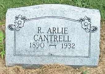 CANTRELL, R. ARLIE - DeKalb County, Tennessee | R. ARLIE CANTRELL - Tennessee Gravestone Photos