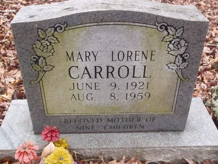 CARROLL, MARY LORENE - Dyer County, Tennessee | MARY LORENE CARROLL - Tennessee Gravestone Photos