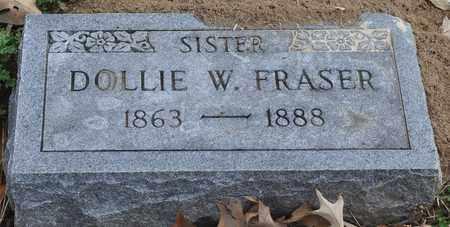 FRASER, DOLLIE W. - Fayette County, Tennessee   DOLLIE W. FRASER - Tennessee Gravestone Photos