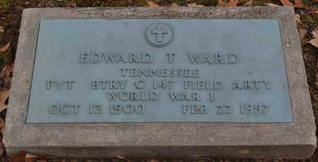 WARD  (VETERAN WWI), EDWARD T - Fayette County, Tennessee   EDWARD T WARD  (VETERAN WWI) - Tennessee Gravestone Photos