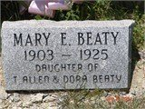 BEATY, MARY ELIZABETH - Fentress County, Tennessee | MARY ELIZABETH BEATY - Tennessee Gravestone Photos