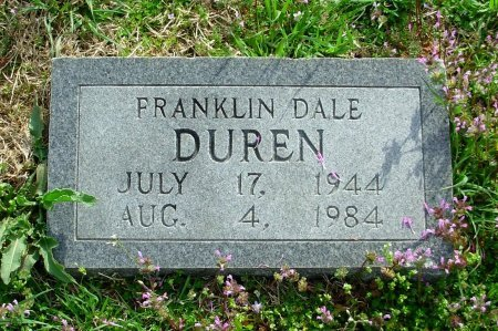 DUREN, FRANKLIN DALE - Gibson County, Tennessee | FRANKLIN DALE DUREN - Tennessee Gravestone Photos
