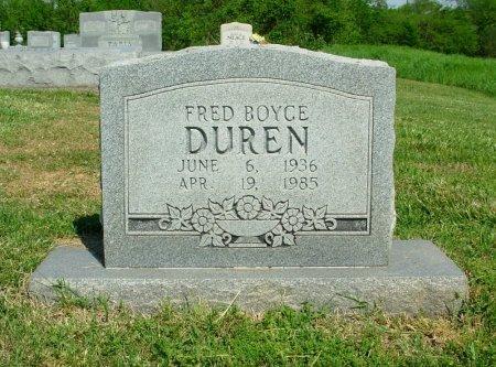 DUREN, FRED BOYCE - Gibson County, Tennessee   FRED BOYCE DUREN - Tennessee Gravestone Photos