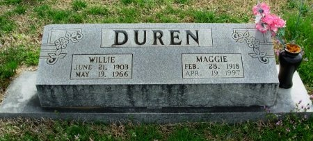 DUREN, WILLIE - Gibson County, Tennessee | WILLIE DUREN - Tennessee Gravestone Photos