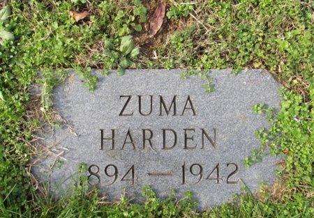 HARDEN, ZUMA - Giles County, Tennessee | ZUMA HARDEN - Tennessee Gravestone Photos