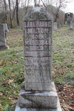 MILTON, SARAH ANNIE - Giles County, Tennessee   SARAH ANNIE MILTON - Tennessee Gravestone Photos