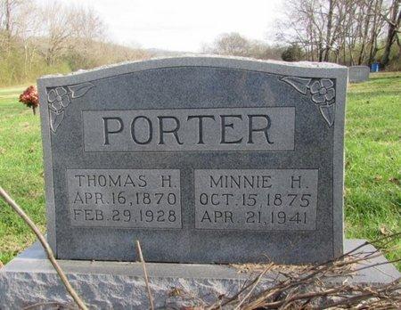 PORTER, MINNIE H. - Giles County, Tennessee | MINNIE H. PORTER - Tennessee Gravestone Photos