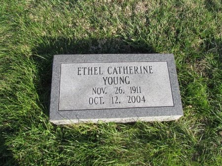 YOUNG, ETHEL CATHERINE - Giles County, Tennessee | ETHEL CATHERINE YOUNG - Tennessee Gravestone Photos