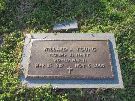 YOUNG (VETERAN WWII), WILLARD A. - Giles County, Tennessee | WILLARD A. YOUNG (VETERAN WWII) - Tennessee Gravestone Photos