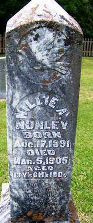 NUNLEY, WILLIE A. - Grundy County, Tennessee | WILLIE A. NUNLEY - Tennessee Gravestone Photos