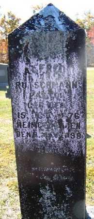RUTSCHMANN, ALFRED - Grundy County, Tennessee | ALFRED RUTSCHMANN - Tennessee Gravestone Photos