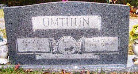 UMTHUN, JOSEPH G. - Grundy County, Tennessee | JOSEPH G. UMTHUN - Tennessee Gravestone Photos