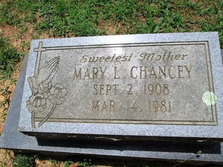 CHANCEY, MARY L. - Hamilton County, Tennessee | MARY L. CHANCEY - Tennessee Gravestone Photos