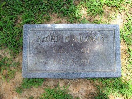 CHANCEY, NAOMI M. - Hamilton County, Tennessee | NAOMI M. CHANCEY - Tennessee Gravestone Photos