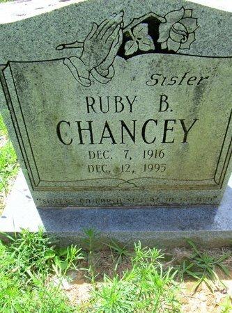 CHANCEY, RUBY B. - Hamilton County, Tennessee   RUBY B. CHANCEY - Tennessee Gravestone Photos